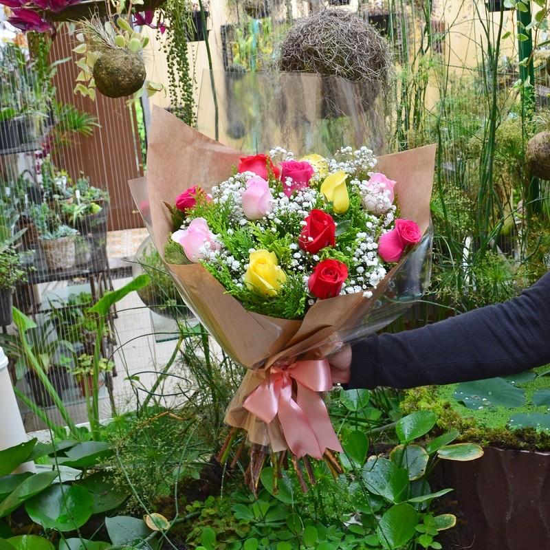 Ramalhete 6 Rosas Nacionais Pink