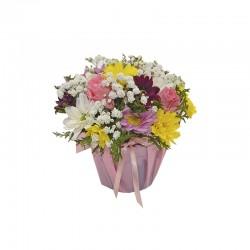 Ramalhete 6 Rosas Branca e Amarela